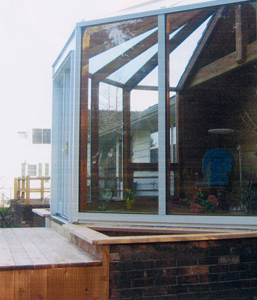 Exterior side of sun room addition