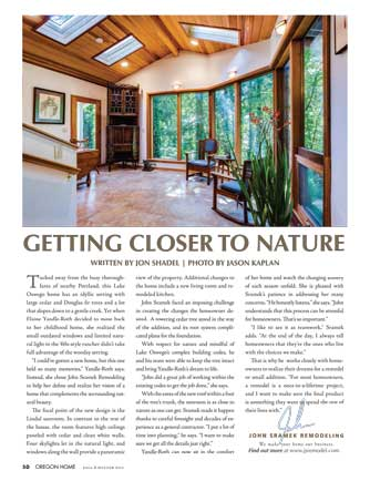Page 50 of Fall Winter edition of Oregon Home, which contains this article about John Sramek Remodeling