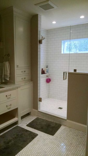 White bathroom remodel